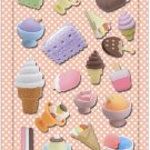 New IWAKO Japanese Eraser Puffy Raised Stickers - Ice Cream