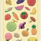New IWAKO Japanese Eraser Puffy Raised Stickers - Fruits and Vegetables