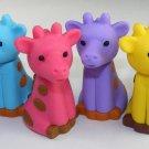 6 NEW Colors Kawaii Giraffe Erasers IWAKO Japan