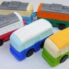 5 Bus and Train Erasers IWAKO Japan