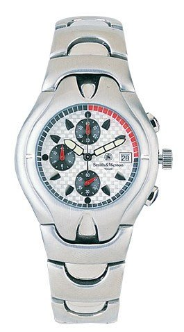 Smith & Wesson Watch White Dial Chrono SS Case & Band