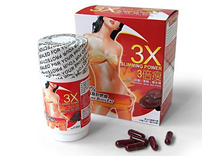 3X Slimming Power - Burn Body Fat (500 boxes  original  hot seller items)