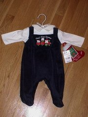 """Brand new with tags Bright Future outfit """"Baby's First Christmas"""""""