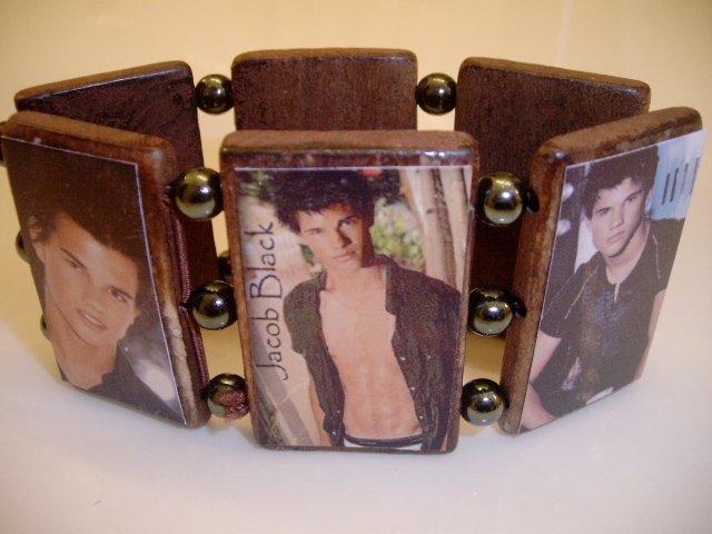 Twilight stretch wood Bracelet JACOB BLACK