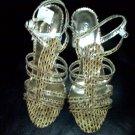 Mustard Snake Dress Sandal 9