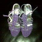Purple  Dress Sandal 8 1/2