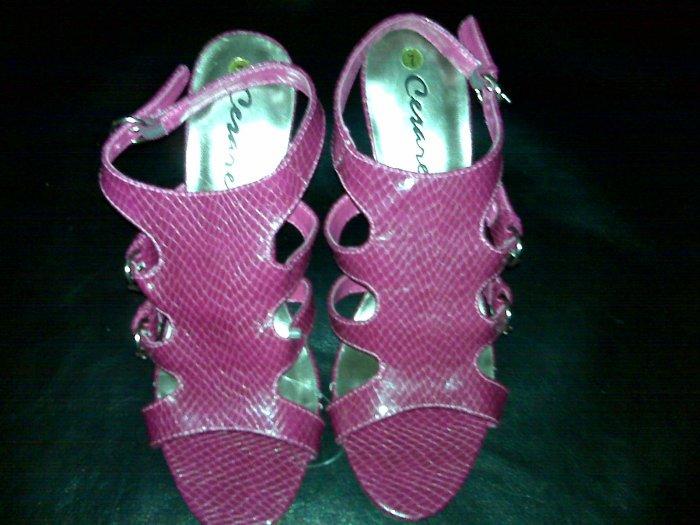 Croco Color Block Sandal  ( 8)