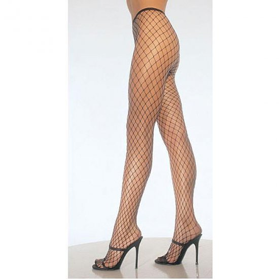 Spandex DIamond Net Pantyhose (Leg Avenue) Color Red, Size: OS