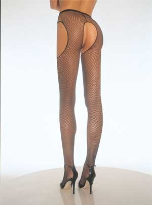 Fishnet Garterbelt Pantyhose (Leg Avenue) Color Black, Size: OS
