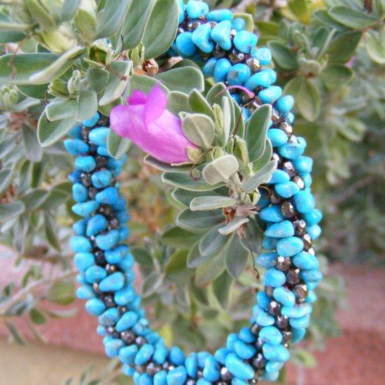 Bead Crochet Arizona Turquoise Bangle