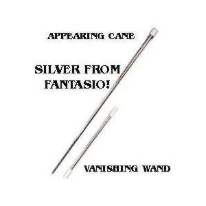 Stage Magic Trick - Appearing Cane ( Metal, white colour)