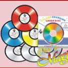 Stage Magic Trick -  Laser Disc Colour Changing Records