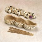 SKULL TRIO INCENSE BURNER