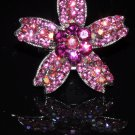 Daisy on star crystal ring in pink R1238