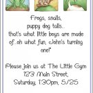 Frogs, Snails, Puppy Dog Tails Invite