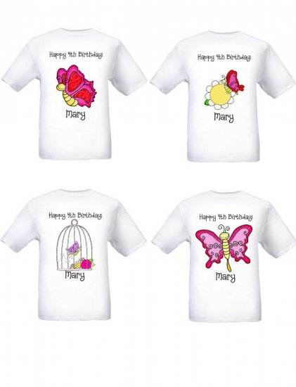 Butterfly Flutter Party Tshirt Favor