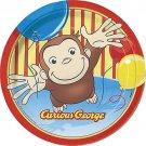 "Curious George Dessert Plates 7"", 8ct"