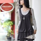 2-Piece Layered Dress (Grey)