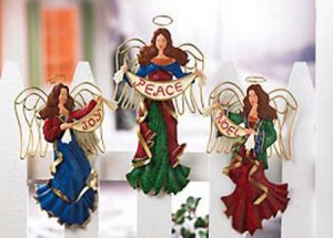 FENCE ANGELS........ A GREAT CHRISTMAS DECORATION