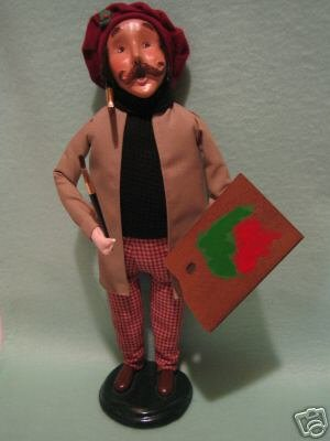 "BYERS CHOICE CAROLER ""THE SIGN PAINTER"" 1999"