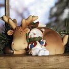 CUTE AND HEART WARMING SLEEPING SNOWMAN AND REINDEER
