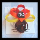 Turkey Hair Clip - Thanksgiving - No Slip Grip