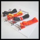4 Tuxedo Hair Clips - Halloween - No Slip Grip Available