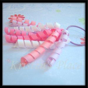 Korker Pony-o - Pink, Purple, White - Ponytail Hair Bow