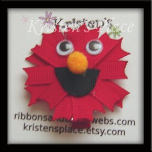 Little Red Monster Clippie - Character Hair Clip / Bow