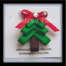Christmas Tree Clippie - Christmas Hair Clip / Bow
