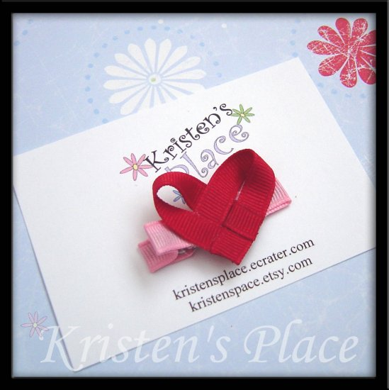 Heart Hair Clip - Valentines Day