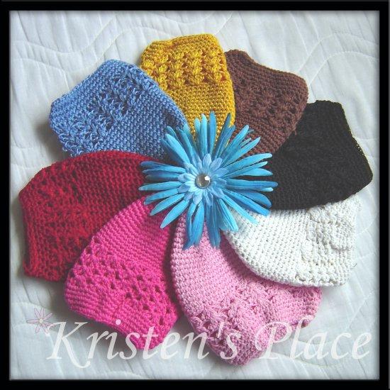 Choose 3- Crochet Beanie Hats - Toddler to Pre-teen size - Kufi Cap