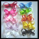 Non-Slip Tiny Baby Bows - Set of 10 - Boutique Baby Bows - Perfect Starter Set - Baby Gift