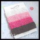 Crochet Headbands -  Pink, White, Brown, Hot Pink