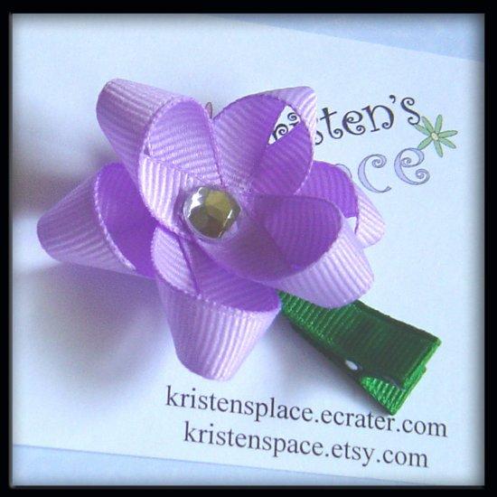 Boutique Flower Hair Clip - U Choose - Pink, Blue, Yellow, Purple