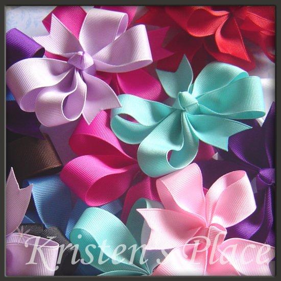 10 Pinwheel Bows - Large Boutique Bows