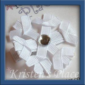 Snowflake Clippie - Christmas or Winter Hair Clip / Bow
