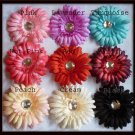 Jeweled Daisy Hair Clip - Classic Daisy - U Choose - 9 Colors - FREE Interchangeable Headband