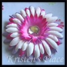 SUMMER SALE - Jeweled Daisy Hair Clip - Pink, Purple, White