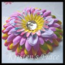 SUMMER SALE - Jeweled Daisy Hair Clip - Summer Fun