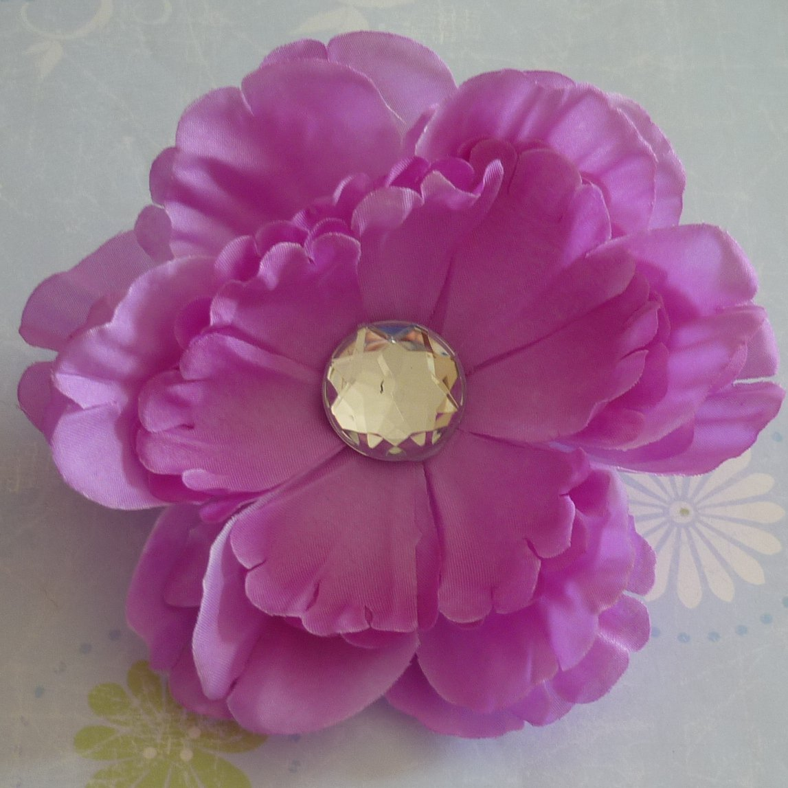 Flower Hair Clip - Peony - Lavender