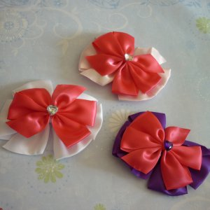 Boutique Bows - Set of 3 - Pink, Purple, and White