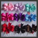 4 Pinwheel Bows - Large Boutique Bow - U Choose