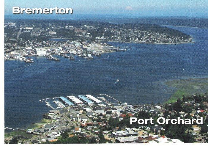 Bremerton, WA and Port Orchard, WA Postcard