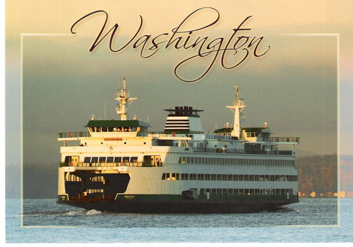 Washington Ferry Postcard