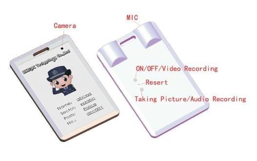 MDC-100 SPY DVR  Mini ID Card Camera