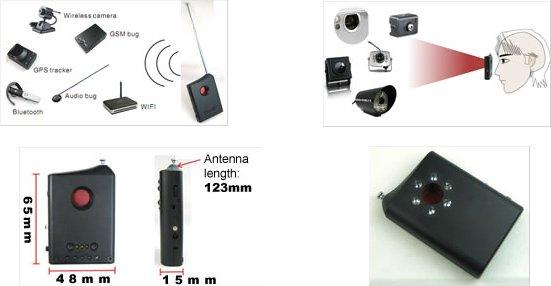 Free shipping 100% New MDL-101 Spy cameras detector, wireless RF signal detecto RF/LENS Detector
