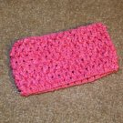 Dark Pink wide crochet headband