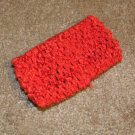 Red wide crochet headband
