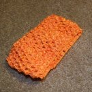 Orange wide crochet headband